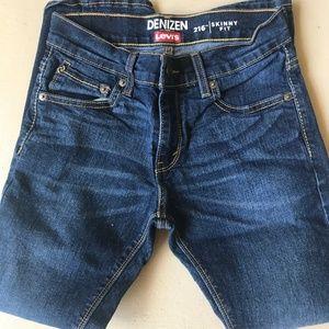 LEVIS DENIEN 216 Skinny Jeans Boys Size 10R